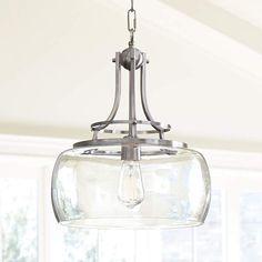 "Charleston 13 1/2"" Wide Brushed Nickel Pendant Light - #7P203 | Lamps Plus"