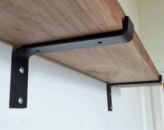 """4"""" Industrial Light Loads Shelf Brackets. Black Iron Brackets. Hand Forged Metal. Shelf Brackets*"""