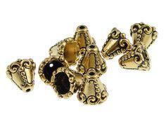 Jewellery Making Antiqued Silver 8mm Small Tibetan Cone Beadcaps x100