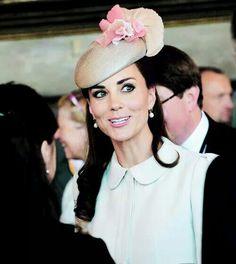 Hat worn with ivory coat dress in Belgium