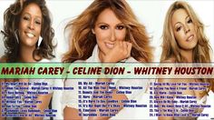 Greatest Hits Of Divas : Mariah Carey, Whitney Houston, Celine Dion - \/Full Album