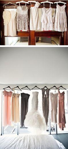 different bridesmaids dresses <3