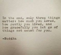 In the end ....