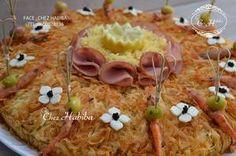 Blog de chezhabiba - Skyrock.com Morrocan Food, Moroccan Salad, Moussaka, Baked Potato, Blog, Buffet, Food And Drink, Appetizers, Menu