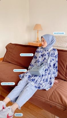 Casual Hijab Outfit, Ootd Hijab, My Outfit, Muslim Fashion, Hijab Fashion, Fashion Outfits, Womens Fashion, Hijab Ideas, Messi