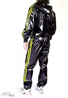 Sporty 4-way stretch vinyl tracksuit