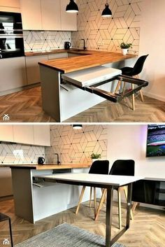 magnificient small kitchen design ideas on a budget 2 ~ Modern House Design Home Decor Kitchen, Kitchen Furniture, Home Kitchens, Table Furniture, Kitchen Ideas, Furniture Design, Modern Kitchen Design, Interior Design Kitchen, Interior Modern