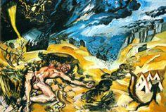 Apocalyptic Landscape, 1913, Ludwig Meidner Ludwig Meidner, The Royal School, Chaim Soutine, Jewish Art, Persecution, Urban Landscape, Art School, Printmaking, Illustration