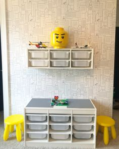 Ikea Lego storage and display Toy Organizer Ikea, Ikea Toy Storage, Small Space Storage, Wall Storage, Diy Lego, Lego Minecraft, Lego Lego, Lego Batman, Minecraft Buildings