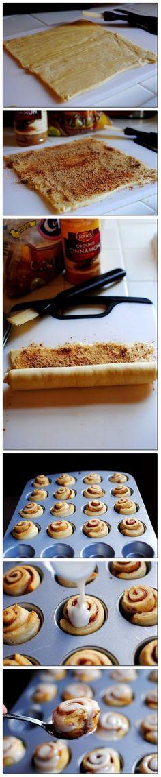 Mini Cinnamon Rolls - cookglee recipe pictures