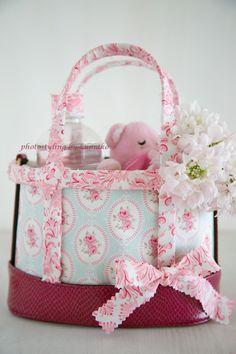 original decorated bag by Tilda fabric, frame bag mini