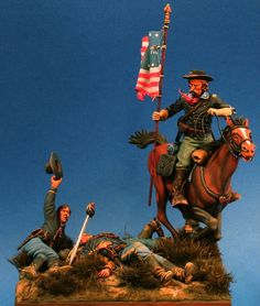 Custer in the Charge . . .