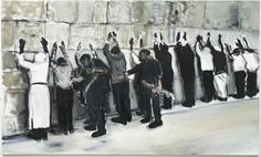 """""""Wall Wailing"""" by Marlene Dumas 