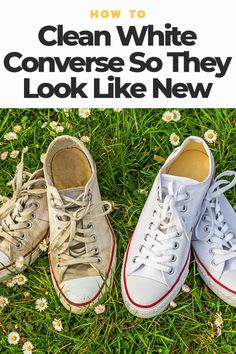 buy popular 3ad9c b9039 How To Clean White Converse So They Look Like New - Oola.com Cleaning  Converse