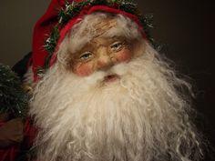 "Handmade Santa Claus~Teddy Bear & ToYs By Kim Sweet~Kim's Klaus~OoaK Vintage Antique Christmas Folk Art Doll~""Nicholas"""
