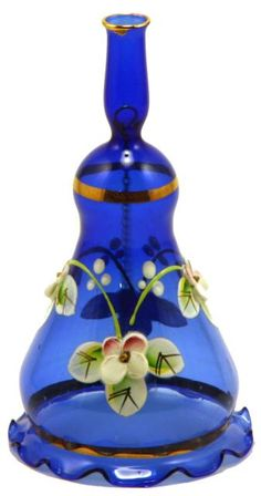bohemian hand blown and hand painted