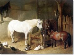 John Frederick Herring Sr. Canine Dog Equestrian Horse Paintings and Prints of Dogs & Horses