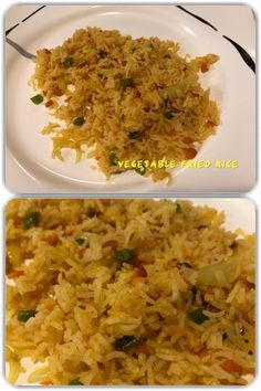Vegetable fried rice is a dish of cooked rice that has been stir-fried in a wok or a frying pan and is usually mixed with other ingredients such as vegetables. Indian Food Recipes, Vegan Recipes, Ethnic Recipes, Stir Fry Wok, Vegetable Fried Rice, Rice Dishes, Vegetarian, Tasty, Homemade