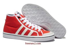 a5af19cf87e Wholesale Cheap Adidas Honey Stripes Mid W University Red White Online