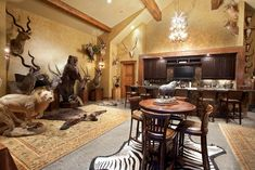 Safari Room, Contemporary Bathrooms, Contemporary Homes, Basement Remodeling, Bathroom Remodeling, Remodeling Ideas, Gun Rooms, Trophy Rooms, Video Game Rooms