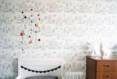 Decora la habitación de tu futuro bebé con papel pintado