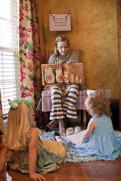 Schedule special story time. Let each child pick out a favorite book and let them help bring the story to life.
