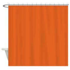 Pumpkin Pie Orange Shower Curtain $51.99 #orange #custombath #cafepress