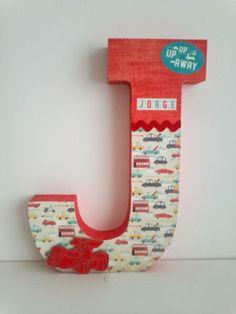 J de Jorge Diy Letters, Letter A Crafts, Wooden Letters, M Letter, Altered Boxes, Decoupage, Christmas Stockings, Crafts For Kids, Symbols