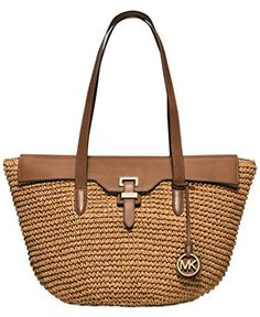 d751fb929539 Get one of the hottest styles of the season! The Michael Kors Naomi Large  Paper Brown   Straw Leather Tote is a top 10 member favorite on Tradesy.