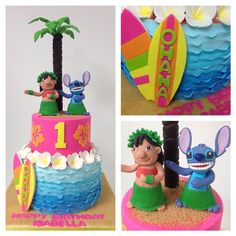 Disney Party Ideas: Lilo and Stitch Party Lilo And Stitch Cake, Lilo Et Stitch, Hawaiian Luau Party, Hawaiian Birthday, 1st Birthday Parties, 3rd Birthday, Birthday Ideas, Aaliyah Birthday, Hawaian Party