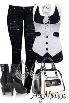 A fashion look from November 2012 featuring Under Armour tops, Wallis ankle booties and Lipsy handbags. Browse and shop related looks. Komplette Outfits, Fall Outfits, Casual Outfits, Summer Outfits, Fashion Outfits, Womens Fashion, Style Emo, My Style, Estilo Rock