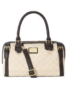 7db9798956 Black and cream quilted bowler - Purses & Wallets - Accessories - Dorothy  Perkins United States