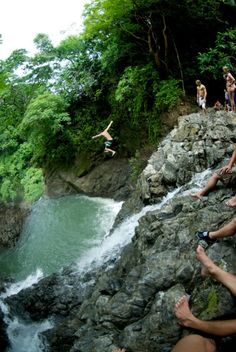 Waterfall jumping in Montezuma, Costa Rica Pinned by vacation planning experts http://www.4tulemar.com