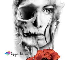 So this is a composite I created using two of Glen Preece's paintings plus some illustrated style poppies I added in for color and contrast. The plan is to have this as my other half sleeve. #tattoo #oneofakind #watercolor | HopeLitwin.com