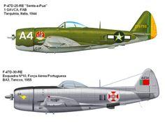 """. . . O Republic P-47 Thunderbolt , também por vezes conhecido por """"Jug"""", foi o maior, mais caro e mais pesado caça na histór..."""
