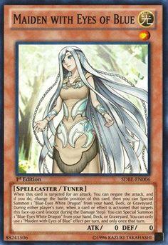 Yu-Gi-Oh! - Maiden with Eyes of Blue (SDBE-EN006) - Structure Deck: Saga of Blue-Eyes White Dragon - 1st Edition - Super Rare Yu-Gi-Oh!,http://www.amazon.com/dp/B00EUKWYJG/ref=cm_sw_r_pi_dp_FWC7sb04EEBG0FPQ