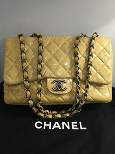 b06d4a0023c0 Chanel Timeless Mini Sac Gold Black Print Leather WOC Wallet on Chain RARE