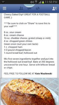 Breadbowl cheese dip