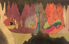 Henry Darger, illustration from The Story of the Vivian Girls, in What is Known as the Realms of the Unreal, of the Glandeco-Angelinian War Storm, Caused by the Child Slave Rebellion