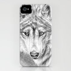 Tender wolf iPhone Case by S-Schukina - $35.00