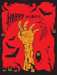 Halloween background human hand. Human Icons. $5.00