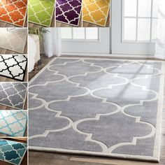 Hand-Tufted Dover Crosshatched Rug (5' x 7'6) | Overstock.com Shopping - The Best Deals on 5x8 - 6x9 Rugs