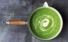 Courgettes, kale and leeks also work well in this soup, along with any other greens from the fridge that need using up.