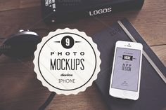 9 Vintage iPhone real photo mockups by show it better on Creative Market