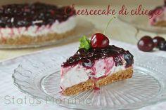 Cheesecake di ciliegie ricotta e yogurt: morbida e delicata come una mousse al momento di essere servita, questa volta di ciliegie, ricca di sapore e freschezza, vi innamorerete di questo dolce al primo assaggio