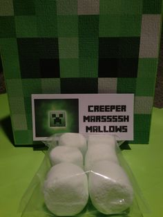Kids think this is the coolest!!!  #Minecraft Minecraft Creeper Birthday Party Favors by Minecraft Party Solved