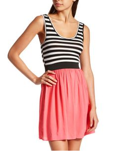 charlotte russe! coral with black and white stripes. love this for a casual summer look!