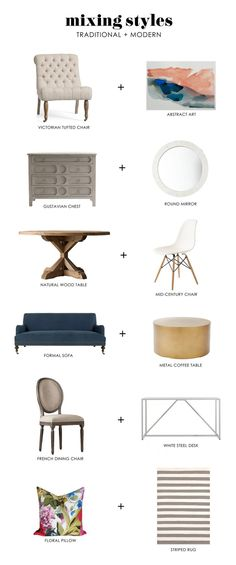 Modern + traditional styles