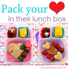 Simple heart sandwiches and a few extra decorations are all it takes to make these LOVE(ly) lunches