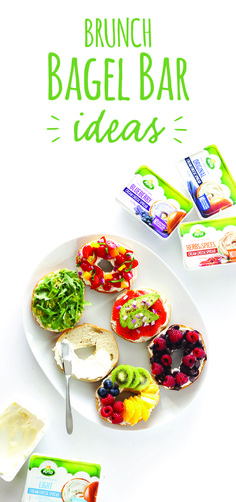 For a brunch that's simply better in every way, host a bagel bar with endless fruits, veggies, herbs, sweets and more. The options are endless! And the best part? When you start with Arla cream cheese, the only added ingredients are the ones you choose. Find more ideas on our page.